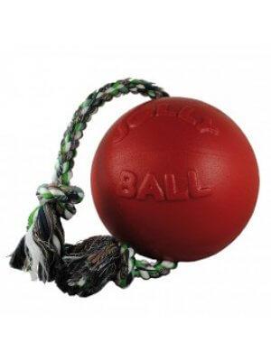 JOLLY PETS Piłka ze sznurem Czerwona 15 cm