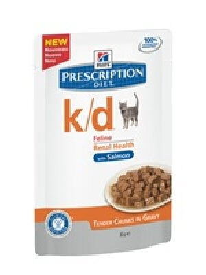 HILL'S PRESCRIPTION DIET K/D SASZETKA ŁOSOŚ 85g