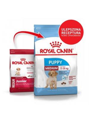 ROYAL CANIN Medium Puppy 4kg karma sucha dla szczeniąt od 2 do 12 miesiąca, ras średnich