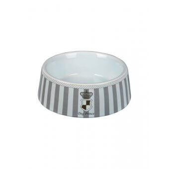 """Trixie Miska ceramiczna dla psa """"Prince""""- 0.45 l/o 16 cm - szaro-biała"""