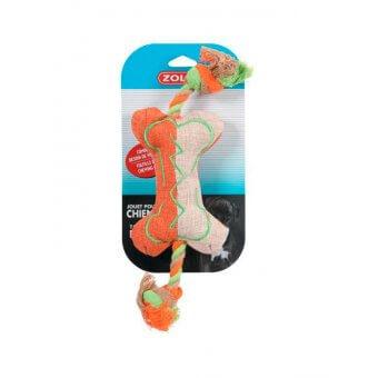 Zolux Kość ze sznurkiem - Pomarańczowa