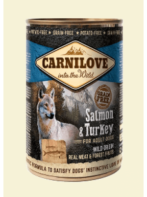 Carnilove Wild Wet SALMON & TURKEY for Adult Dogs 400g