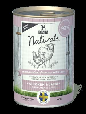 BOZITA NATURALS z kurczakiem i jagnięciną 410g