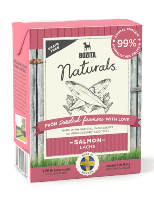 BOZITA NATURALS z łososiem 370g