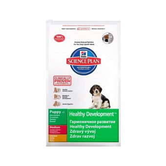 Hill's Science Plan Puppy Healthy Development Medium Kurczak 12kg