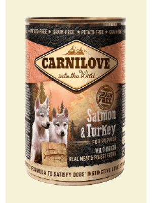 Carnilove Wild Wet SALMON & TURKEY for Puppies 400g