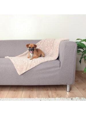 Trixie Koc Beżowy z Pluszu dla Psiaka 150x100cm