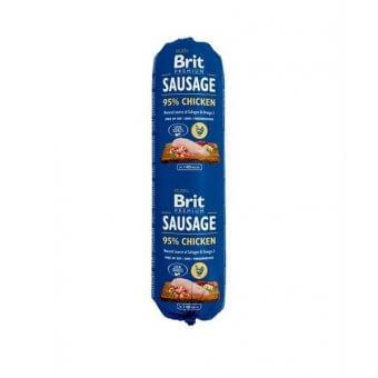 Brit Sausage Kurczak z Ryżem 0,8kg
