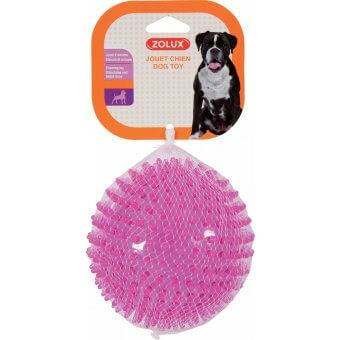 Zolux TPR Różowa Piłka z kolcami - 13 cm