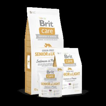 Brit Care Senior & Light Łosoś i Ziemniaki 1 kg - Bez zbóż