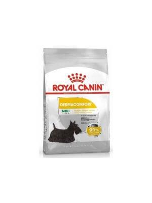 Royal Canin Mini Dermacomfort 1kg karma sucha dla psów dorosłych i starszych ras małych ze skłonnością do podrażnień skóry i drapania się