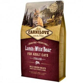 Carnilove Cat Lamb&Wild Boar Sterilised 2kg