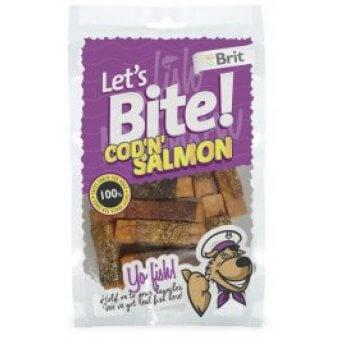 Brit Let's Bite Cod'n'Salmon 80g
