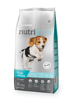 Nutrilove Premium dla psa JUNIOR S&M ze świeżym kurczakiem 1,6 kg