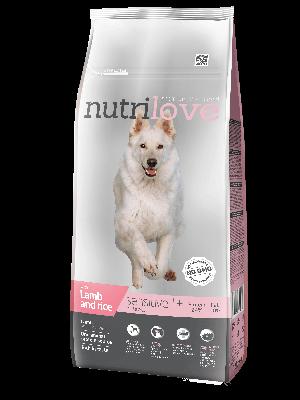 Nutrilove Premium dla psa SENSITIVE z jagnieciną i ryżem 12kg