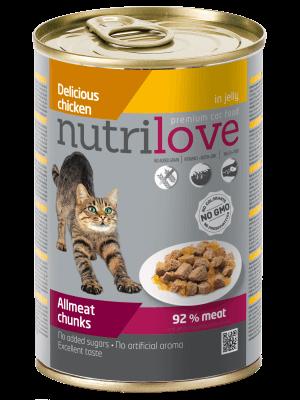 Nutrilove Premium kawałki z kurczakiem w galaretce dla kota 400g