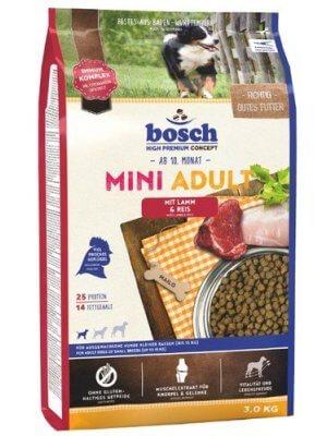 Bosch HPC Mini Adult Jagnięcina z Ryżem 3 kg