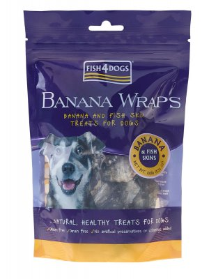 Fish4Dogs Sweet Banana Wraps 100 g