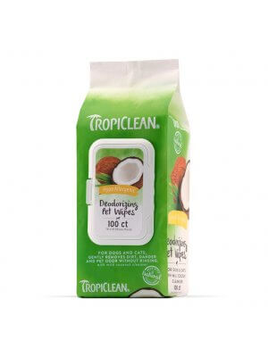 Tropiclean Hypoalergiczne chusteczki dla psów i kotów Hypoallergenic Wipes for Pets 100 szt
