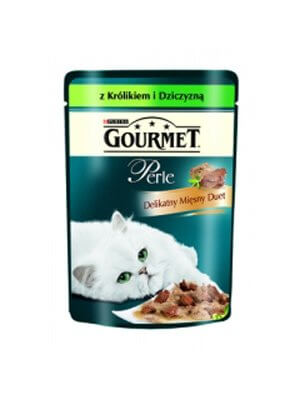 Purina Gourmet Perle Duet Królik z Dziczyzną 85g