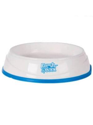 Trixie Miska chłodząca, Cool Fresh, 1 l/o 20 cm, biało/niebieska