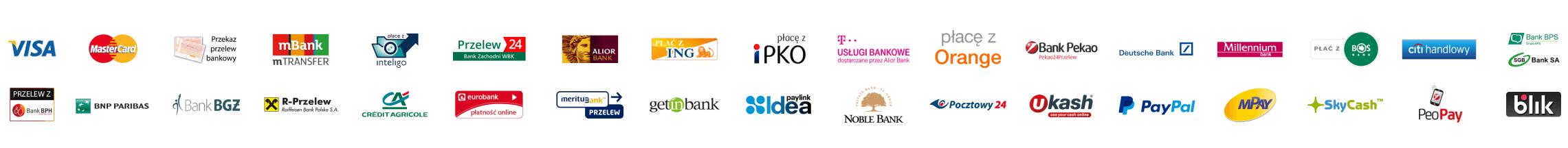Fundacyjny internetowy sklep zoologiczny - Możliwe formy płatności: Visa, Mastercard
